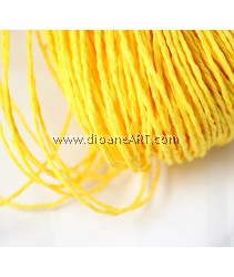 Paper String, Yellow colour, app. 1.5-2.0mm, 10m/pack