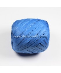 Raffia String, King blue, 1cm, 20 meter/spool