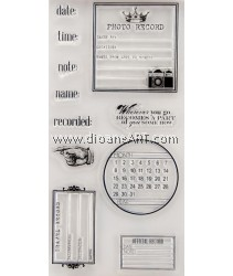 Clear Stamp, Date guide, Sold individually