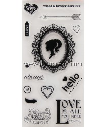 Clear Stamp, Ladies Love, Sold individually