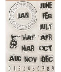 Clear Stamp, Month, Sold individually