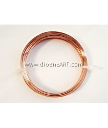 CRAFT WIRE 21GA SQUARE,7YD SPL COPPER