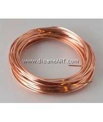 CRAFT WIRE 18GA SQUARE, 7YD SPL COPPER