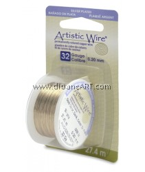 COPPER WIRE NON TARNISH BRASS, 32 GA 30 YD SPL