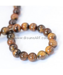 Natural Tiger Eye, Round Bead, 8~8.5mm, Hole: 1mm; about 47pcs/strand
