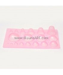 Quilled Creations Mini Quilling Mold Domes Shaping Tool 3D Paper Craft DIY, Pink, 200x130x30mm