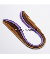 6 Colors Quilling Paper Strips, Purple, 530x5mm; about 120strips/bag, 20strips/color