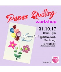 Paper Quilling Workshop for Beginner (21 October 2017, 10am-1pm)