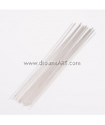 Beading Needles for Sewing Leather, Darning Needles, Nickel Color, about 0.45mm thick, 120mm long, 10 pcs/pack