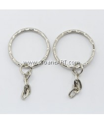 Key Chain Findings, Ring, Iron, 21mm, 20 pcs/pack