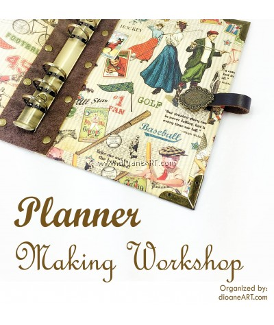 Planner Making Workshop – with Graphic 45 patterned paper (9 December 2017, 10am-1pm)