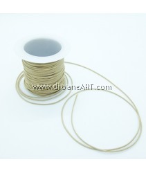 Waxed Polyester Cord, Camel Color, 1mm, about 10m/roll, 1roll/pack