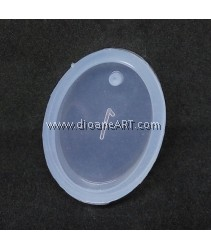 Silicone Molds, Oval Shape Pendant, 30x20mm, 1pcs/pack