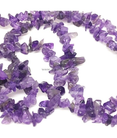 Natural Amethyst Beads Strands, Chips, Purple, 3~5x3~5mm, Hole : 1mm, Sold by per strand