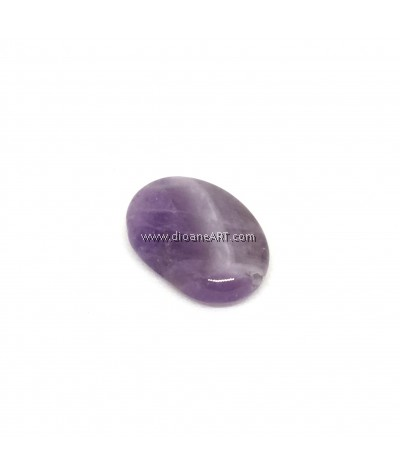 Natural Amethyst Gemstone, Flat Oval, 18x13x6mm, Hole : 1mm, 1pc/pack