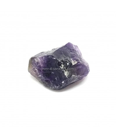 Natural Gemstone Amethyst Rough Nuggest, 13~40x10~26x10~23mm, Hole:2mm, 1pc/pack
