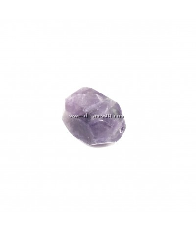 Natural Amethyst Gemstone, Faceted Cuboid, 20x15x15mm, Hole:1mm, 1pc/pack