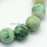 Qinghai Jade Beads Strands, Round, 8~8.5mm, Hole: 1.2mm; about 47pcs/strand, 15.5