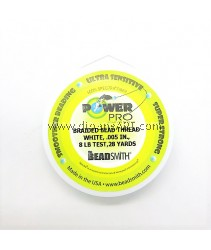POWER PRO .005 8 LB TEST WHITE 28 YARD SPOOL