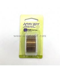 COPPER WIRE GM/ANT BRASS 26 GA 15 YD SPL