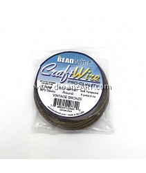 CRAFT WIRE 16GA ROUND 5YD SPL VINTAGE BRONZE