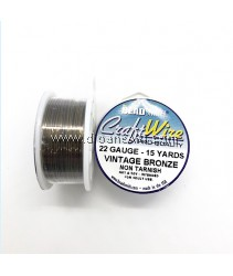 CRAFT WIRE 22GA ROUND 15YD SPL VINTAGE BRONZE